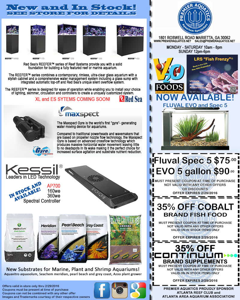 Monthly Specials from Premier Aquatics