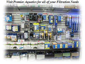 Visit Premier Aquatics for all of your Filtration Needs